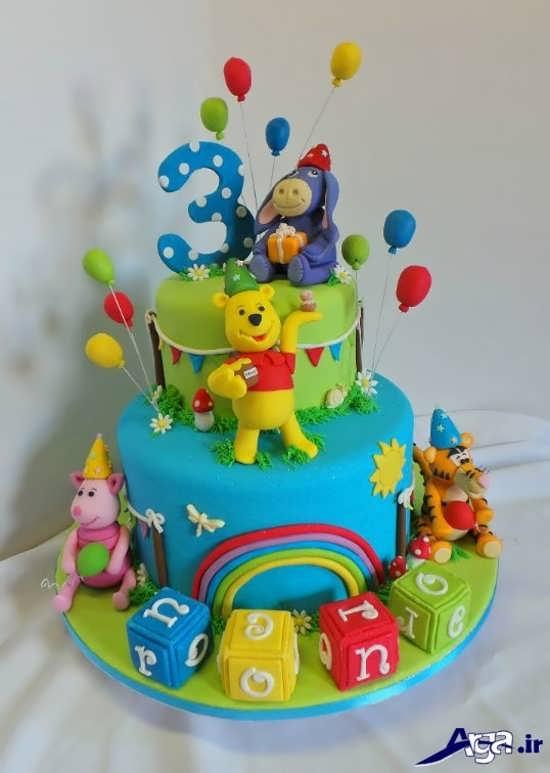 تزیین فانتزی کیک تولد دخترانه