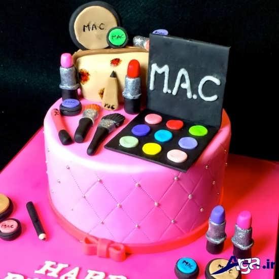 مپل کیک تولد دخترانه با تزیین فانتزی