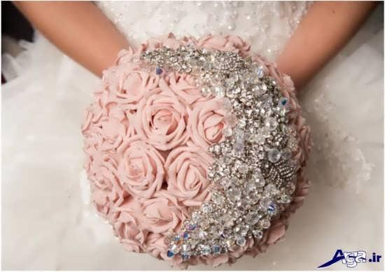 عکس دسته گل عروس صورتی