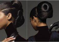 مدل شینیون برای صورت کشیده و لاغر