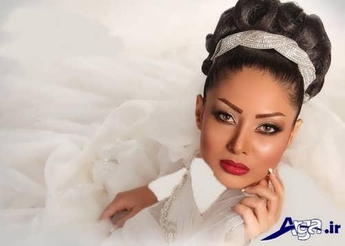 مدل شینیون عروس برای صورت لاغر