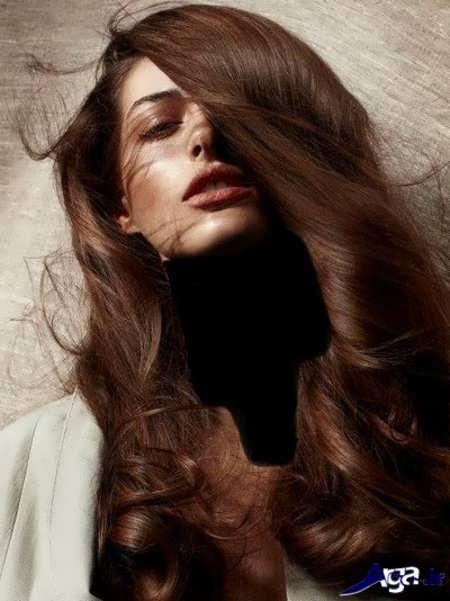 رنگ موی زیبا و جذاب کاکائویی