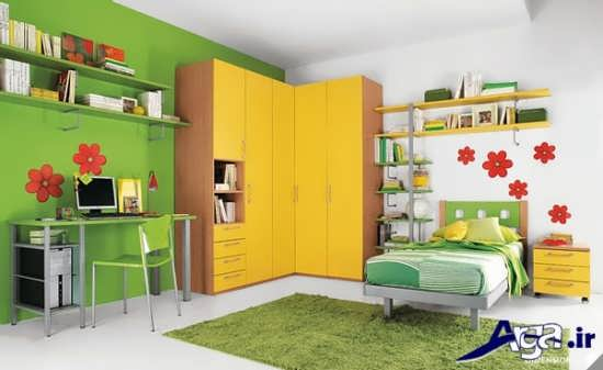 بررسی تاثیر رنگ سبز در اتاق کودکان دختر و پسر