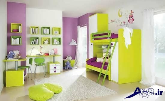 رنگ های زیبا و جذاب برای اتاق کودکان