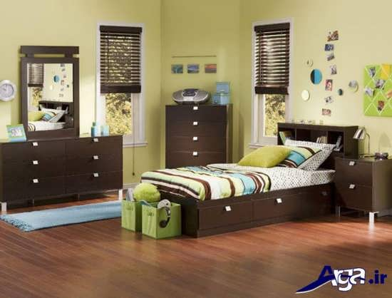 رنگ قهوه ای برای اتاق کودکان دختر و پسر