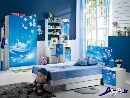 طراحی اتاقکودک با رنگ آبی