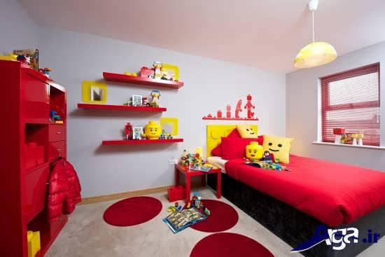 طراحی دکوراسیون اتاق کودک با رنگ قرمز
