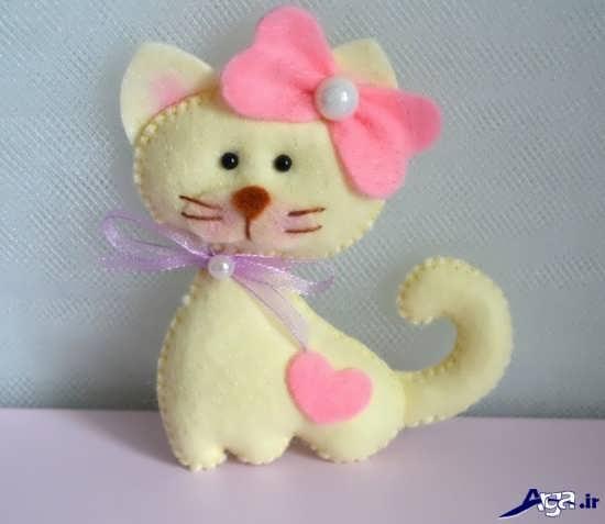 کاردستی گربه با پارچه نمدی