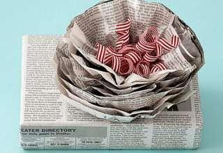 ساخت کاردستی با روزنامه