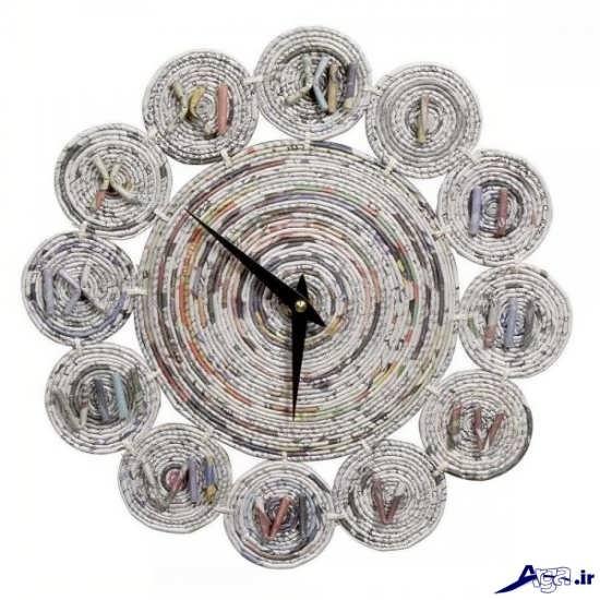 ساخت کاردستی ساعت با روزنامه