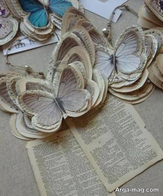 ساخت پروانه با روزنامه باطله
