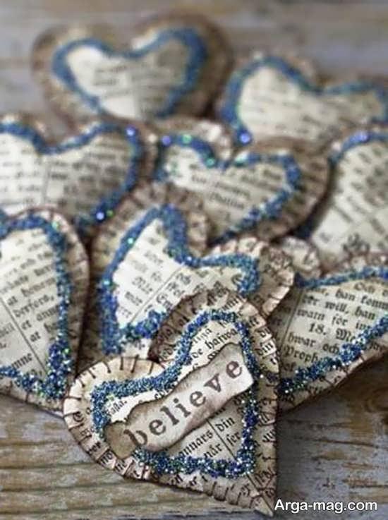 ساخت قلب با روزنامه باطله