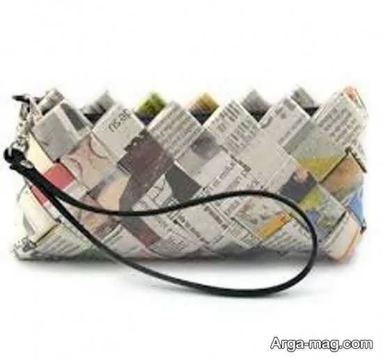ساخت کیف با روزنامه باطله