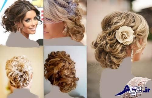 مدل موی فر عروس با شینیون های بسته و زیبا