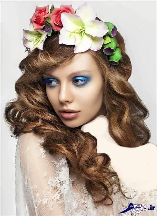 مدل موی فر باز عروس با جدیدترین متدهای آرایشی روز دنیا