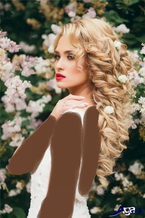 مدل مو فر باز برای عروس