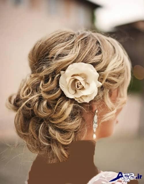 مدل موی فر عروس با انواع شینیون های زیبا و جدید
