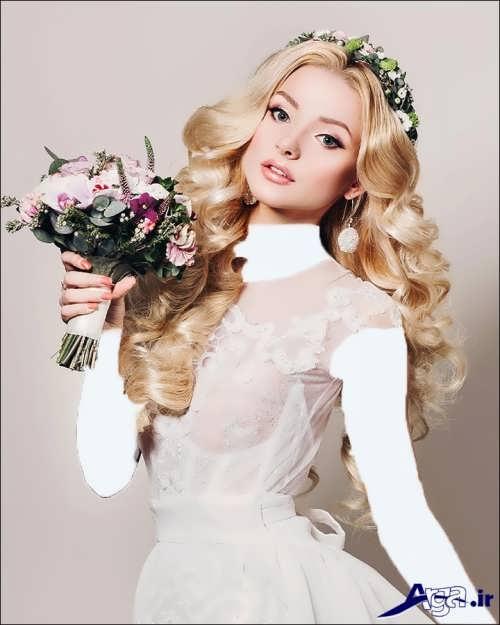 مدل موی باز با تاج مدل موی فر عروس با شینیون های باز و بسته