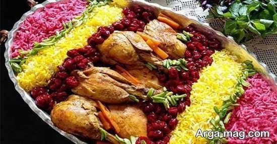 انواع تزیینات زرشک پلو با مرغ