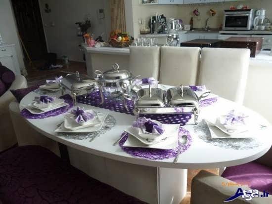 تزیین میز ناهار خوری عروس ایرانی