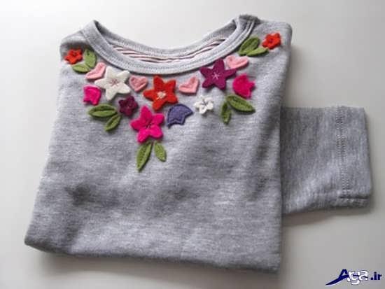 تزیین لباس زنانه با نمد