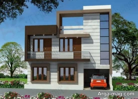 نمای جدید ساختمان چند طبقه