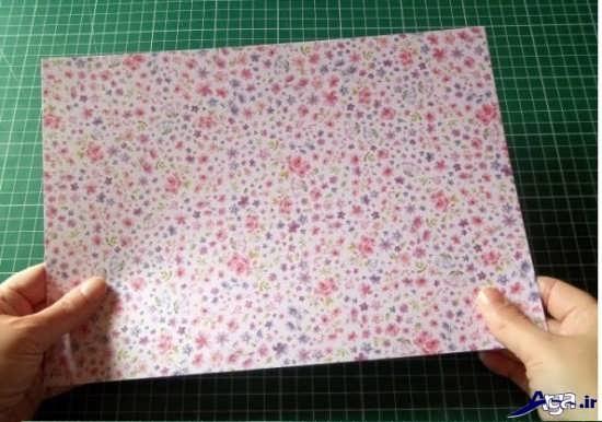 جعبه کادو با کاغذ رنگی