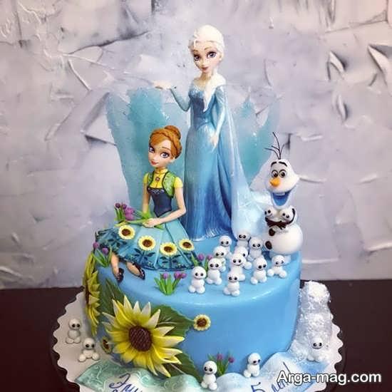 کیک تولد دخترانه با تم زیبا