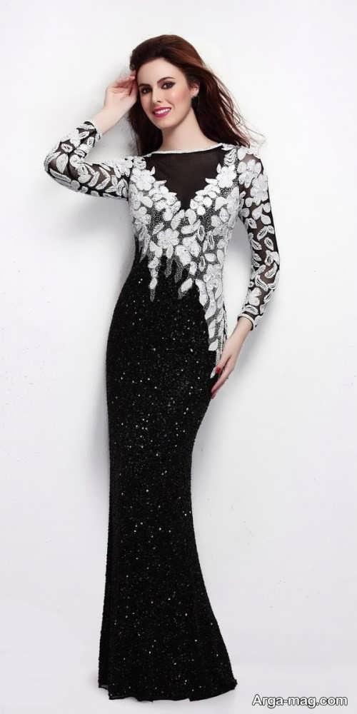 مدل لباس شب گیپور زیبا