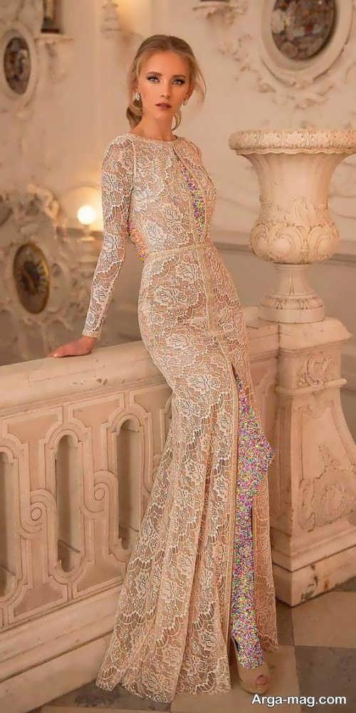 مدلی از پیراهن شب گیپور