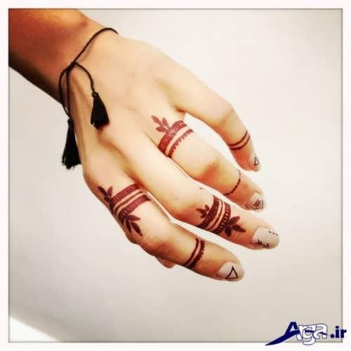 طرح های ساده و متفاوت حنا روی دست