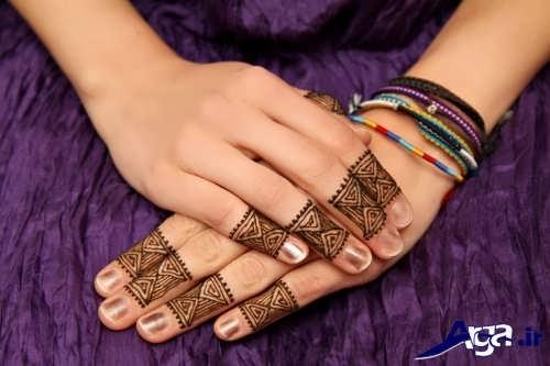 انواع طرح های زیبا و متفاوت حنا روی دست
