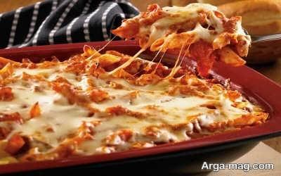 تهیه ماکارونی لذیذ با پنیر پیتزا