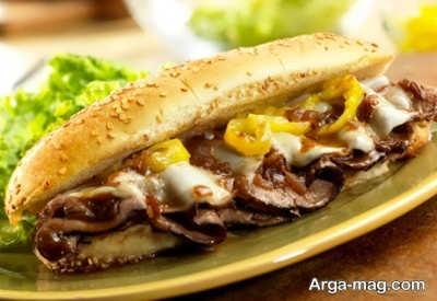 روش تهیه ساندویچ رست بیف