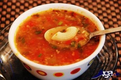 سوپ ایتالیایی خوشمزه و خوش طعم