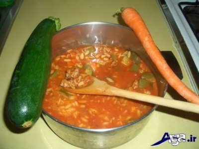 سوپ ایتالیایی خوشمزه و لذیذ