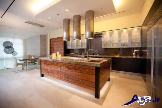 طراحی و نورپردازی مدرن برای آشپزخانه