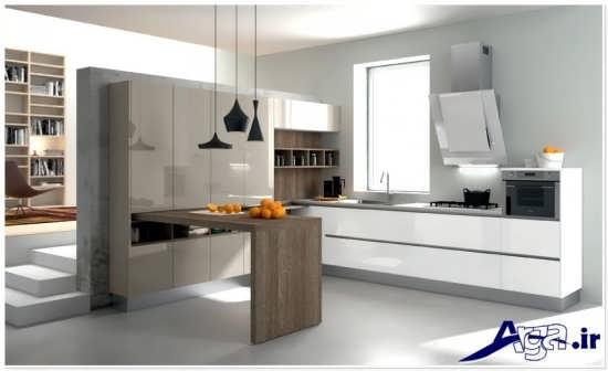 دیزاین داخلی آشپزخانه کوچک و مدرن