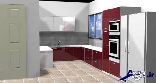 طراحی زیبا و متفاوت برای آشپزخانه های لوکس