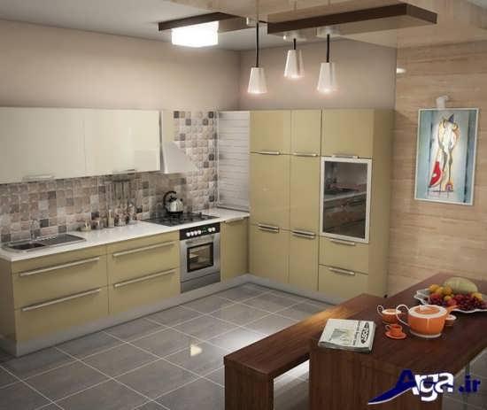طراحی زیبا و کاربردی آشپزخانه
