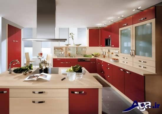طراحی زیبا و متفاوت آشپزخانه