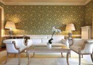 مدل کاغذ دیواری سالن پذیرایی با طرح های زیبا و شیک