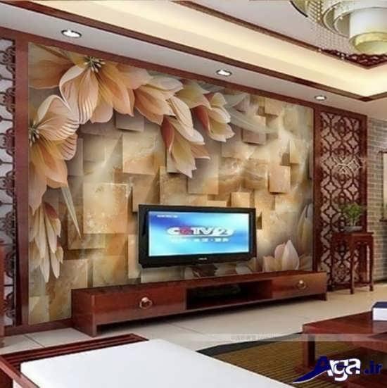 انواع مدل های کاغذ دیواری سالن پذیرایی