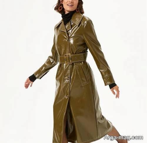 مدلهای زیبای پالتو چرم بلند