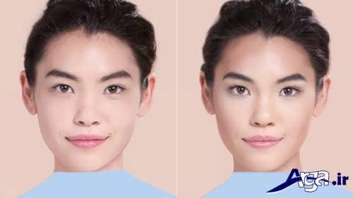 مدل آرایش برای صورت گرد