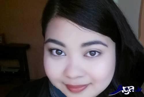 مدل آرایش مخصوص صورت گرد