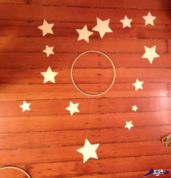 ساخت آویز ستاره با مقوا