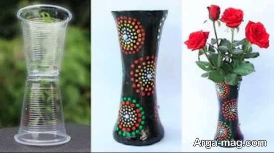 ساخت گلدانی زیبا