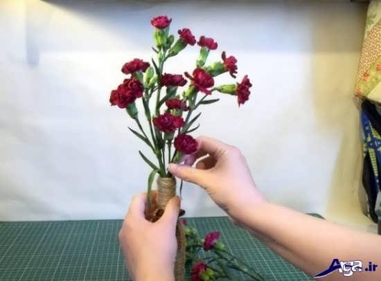 تزیین گلدان زیبا