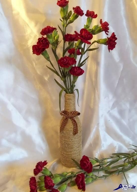 وسایل تزیینی با مروارید آموزش ساخت گلدان زیبا و متفاوت با ایده جدید